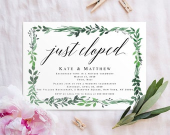 Post wedding reception invitation   Etsy