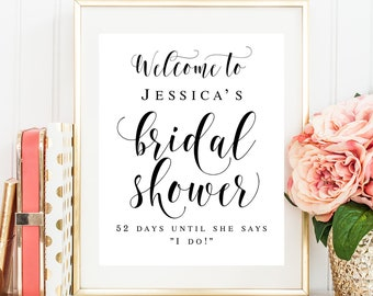 welcome bridal shower sign editable template welcome sign bridal shower decorations rustic sign boho bridal brunch decorations editable diy