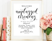 Unplugged wedding sign No photos wedding sign No cell phone sign Wedding ceremony decor Wedding ceremony sign Elegant wedding decor #vm31