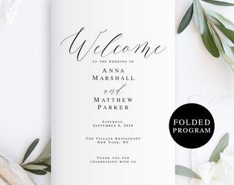 pdf wedding program etsy