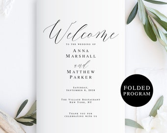 catholic wedding program template etsy