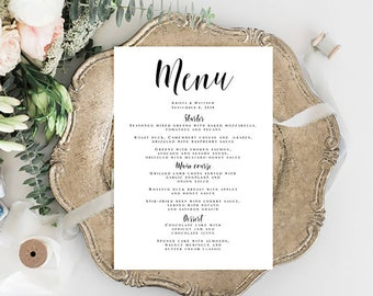 wedding menu download wedding template wedding dinner menu bridal shower menu wedding menu template download rustic dinner menu pdf vm31