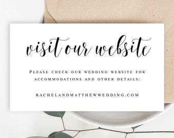 wedding website card etsy