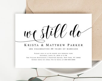 picture about Free Printable Vow Renewal Invitations named Vow renewal invite Etsy