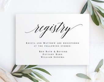registry card etsy