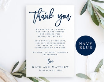 thank you cards wedding etsy