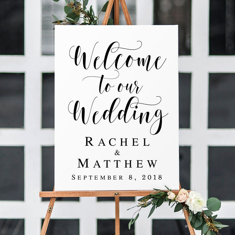 image about Wedding Sign Printable called Welcome wedding day indication printable Welcome marriage ceremony template Welcome indicator Editable wedding day indicator Printable welcome in the direction of our marriage signal #vm31