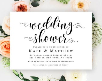 Wedding shower invitation template Wedding shower invitation instant download Couples shower template Wedding shower invites printable #vm31