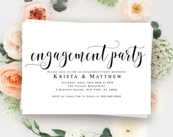 Engagement party invitation printable Engagement invitation printable Engagement invites Editable template Wedding engagement party ideas