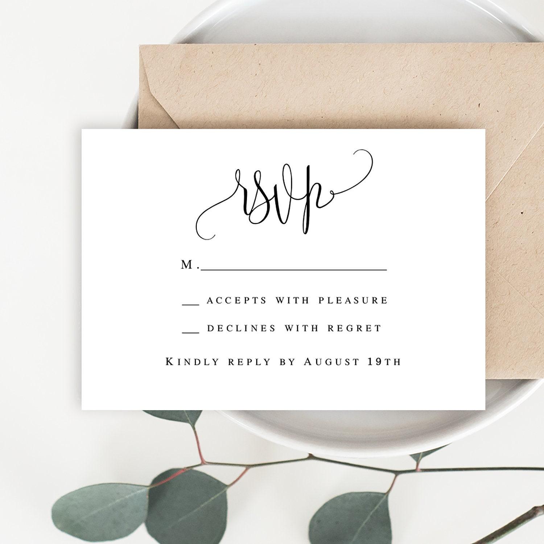 Wedding rsvp card Wedding rsvp printable template Enclosure card templates  RSVP template Wedding acceptance card template #vm21 Throughout Acceptance Card Template