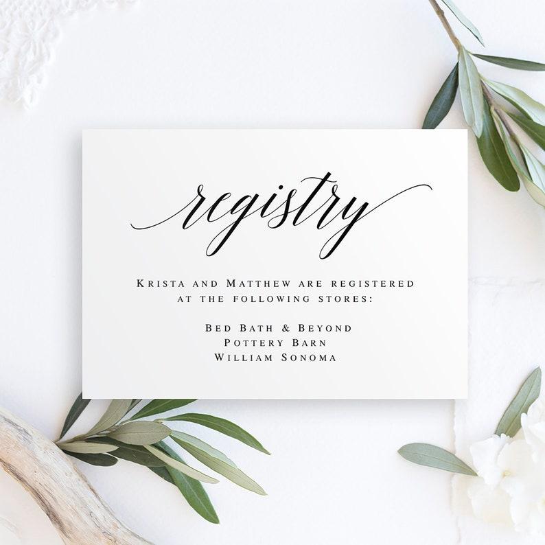 Williams Sonoma Wedding Registry.Registry Card Inserts Gift Registry Card Template Wedding Enclosure Card Template Invitation Enclosure Gift Registry Card Printables Vm51