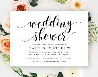 Wedding shower invitation instant download Couples shower invitation template Couples shower template Wedding shower invites printable #vm31