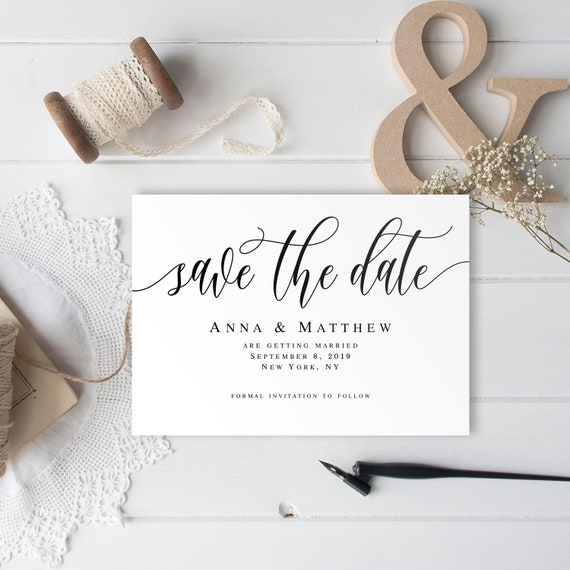 Editable Save Date Template Pdf Digital Save The Date For Wedding Save The Date Downloadable Wedding Announcement Save Our Date Card Vm11