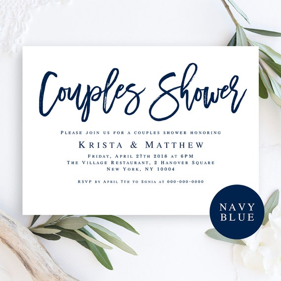 Wedding Shower Invitation Instant Download Couples Shower Etsy
