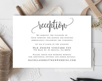 Reception template Etsy