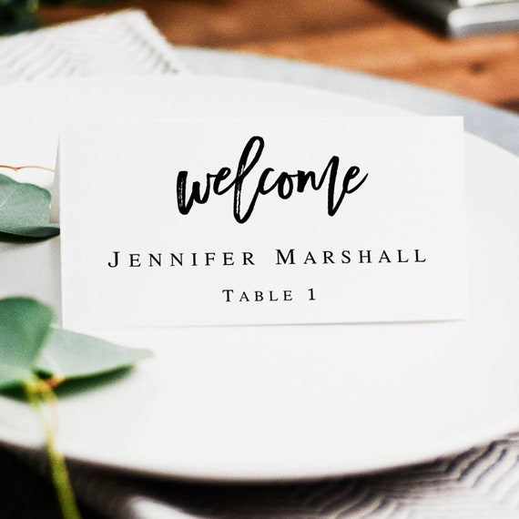printable name cards wedding seating cards template place etsy