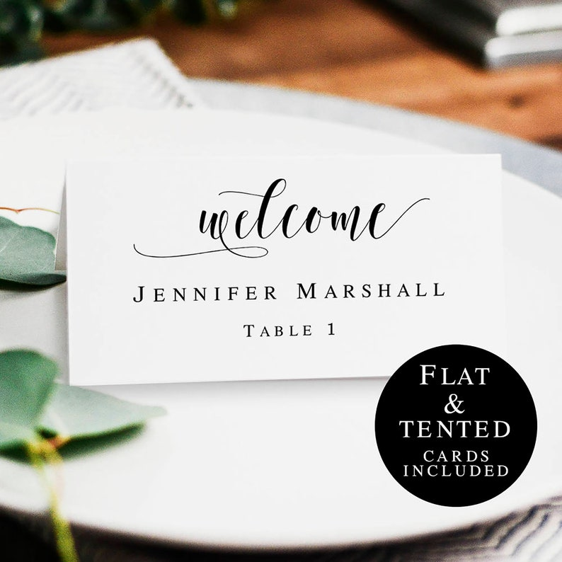 Boho Name Cards Template Printable Wedding Place Cards Table Etsy