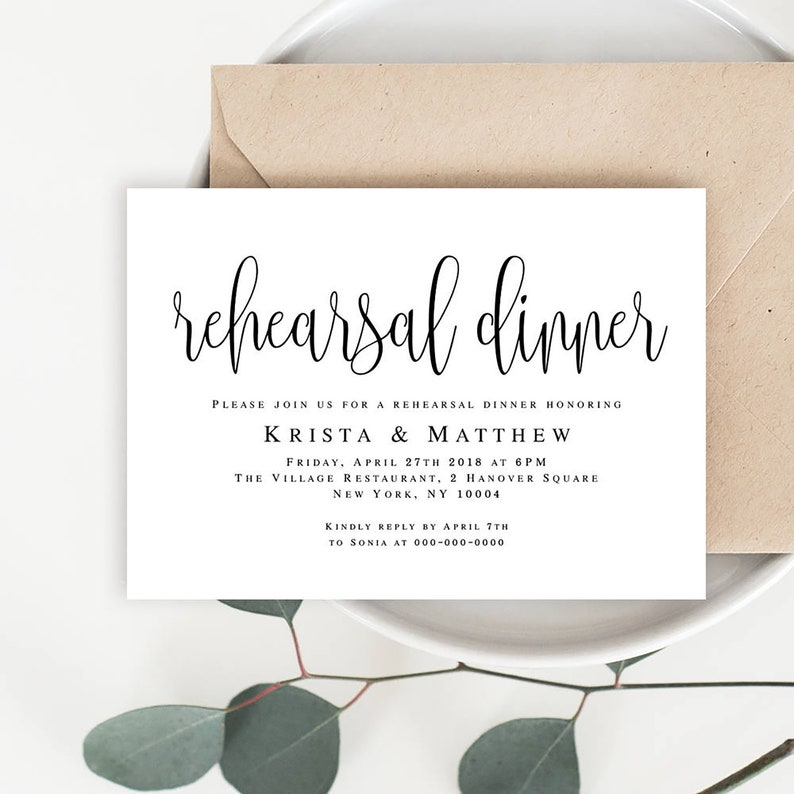 Rehearsal Dinner Invitation Template Download Pre Wedding Party Instant Ideas Vm41