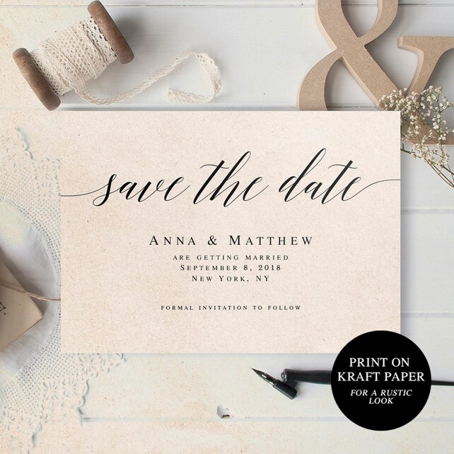 Wedding Save The Date Invites Announcement Template Printable Templates Vm51
