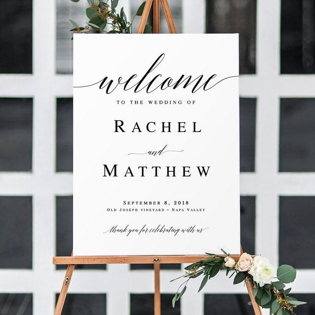 Welcome to our wedding sign Printable Welcome wedding sign printable Welcome wedding template Editable wedding sign Instant download #vm51