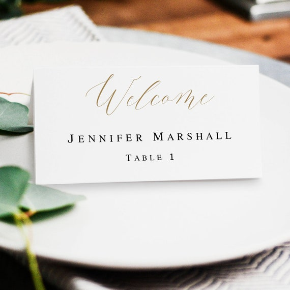 Greenery Place Card Template DIY Cards Printable