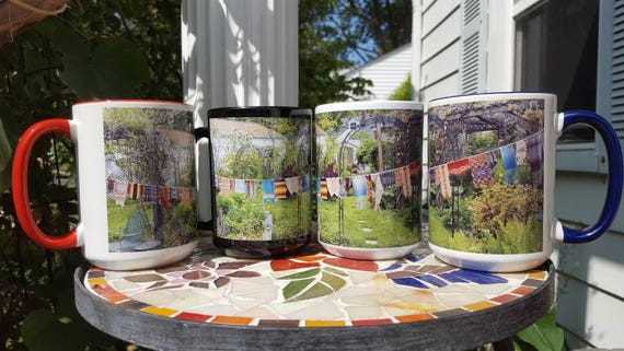 Prayer Flags in Eden Mug, 15 oz