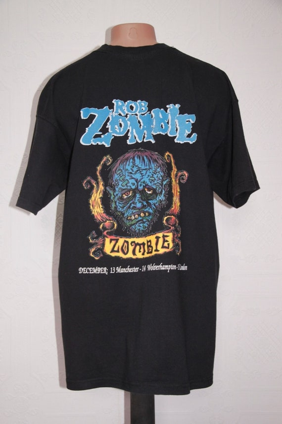 90 t-shirt promo Rob Zombie Hellbilly Deluxe UK vintage tour t-shirt 90 d9df15
