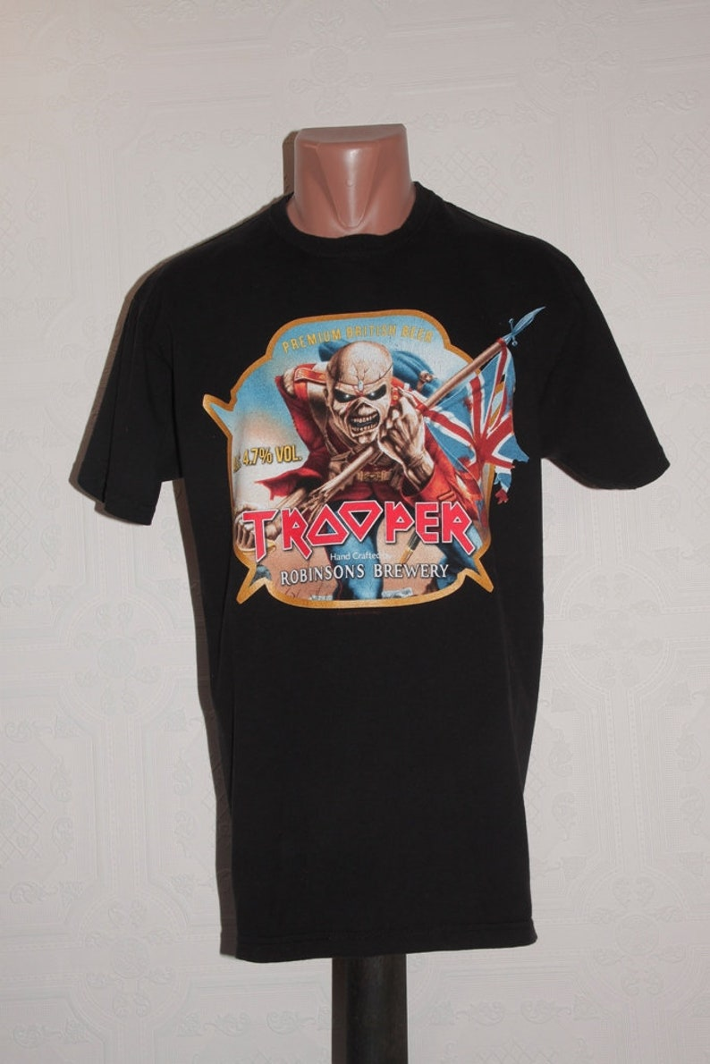 3a59784445815a Iron Maiden The Trooper Beer T-shirt