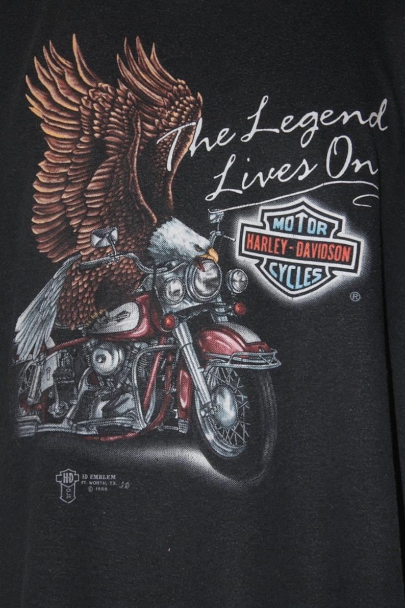 9540d46d 80' Vintage Harley Davidson The Legend Lives On T-shirt | Etsy