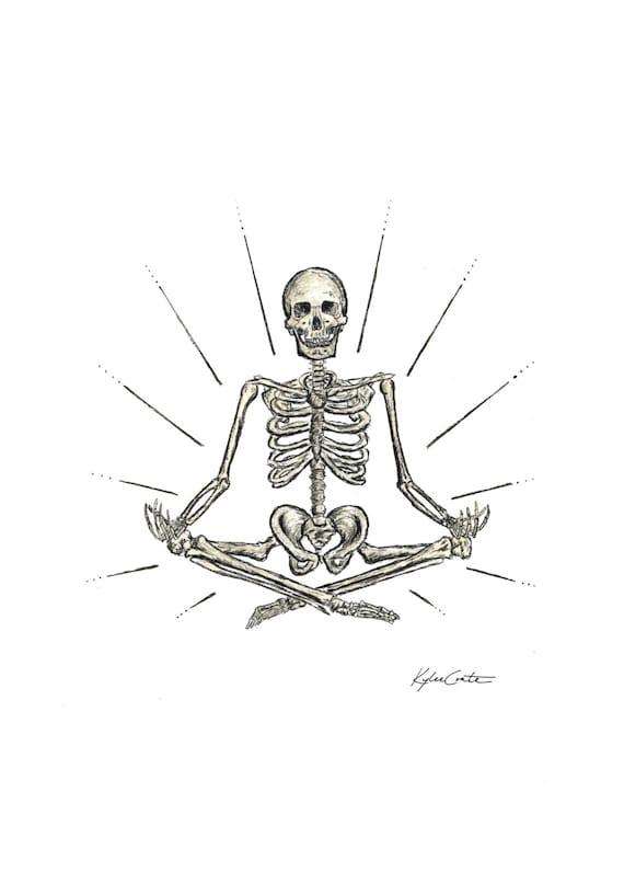 Yoga Skeleton Etsy
