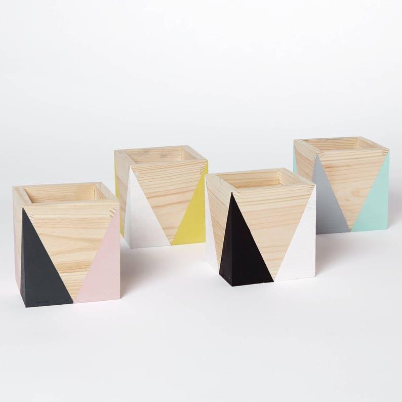 Wooden Storage Pots