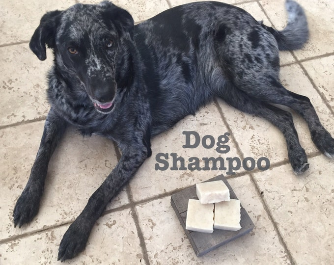 Dog Shampoo Bar with Citronella Natural Tick repellant and Oatmeal for gentle shine