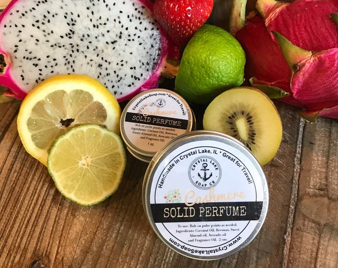 CASHMERE Solid Perfume Tin - Great for Travel, Purse & Pocket.  Feminine Cologne