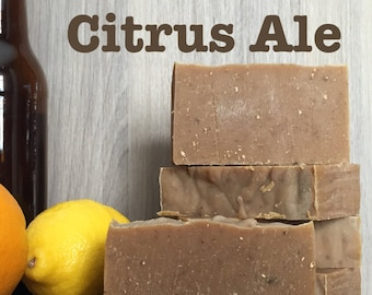 Beer Citrus Honey Bar Soap Lush Men Ale Barley Homemade Scrub Organic Moisturizer