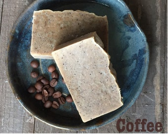 Starbucks Coffee Soap Natural Organic Vegan CP Handmade Bar Scrub Anti Cellulite Exfoliate & Energize