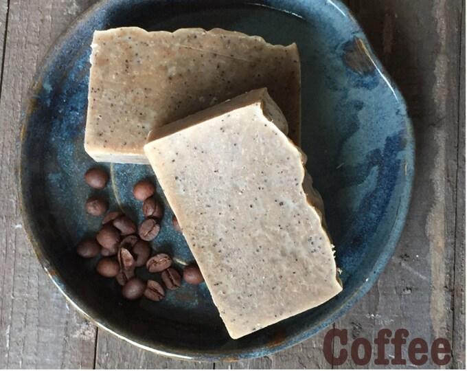 Starbucks Coffee Soap Natural Organic Vegan CP Handmade Bar Scrub Anti Cellulite Exfoliate & Energize
