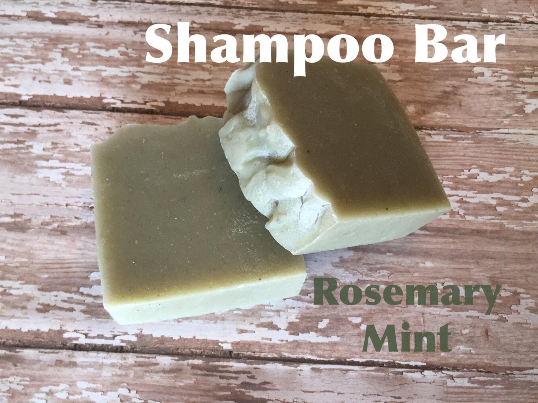 Rosemary Mint Shampoo Bar Bentonite Clay Lush
