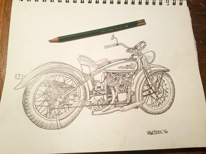 Mano Mis Dibujos Moto Lapiz Bocetos Wwwincreiblefotoscom