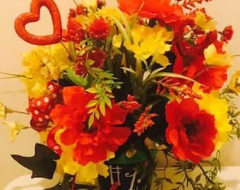 Teacher appreciation arrangement,teacher gift