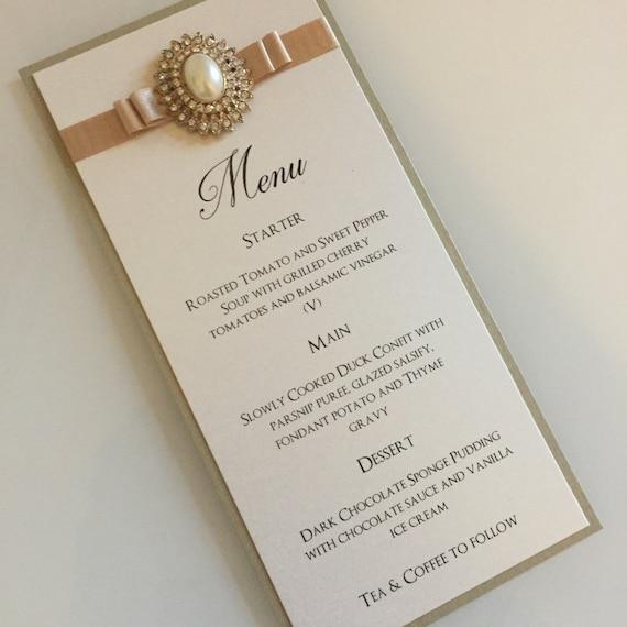 wedding menu wedding breakfast menus gold wedding menus etsy