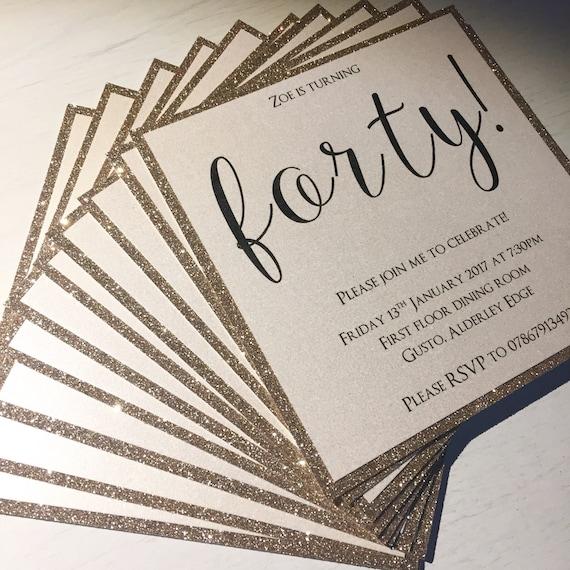 birthday invitations glitter invitations glitter wedding etsy