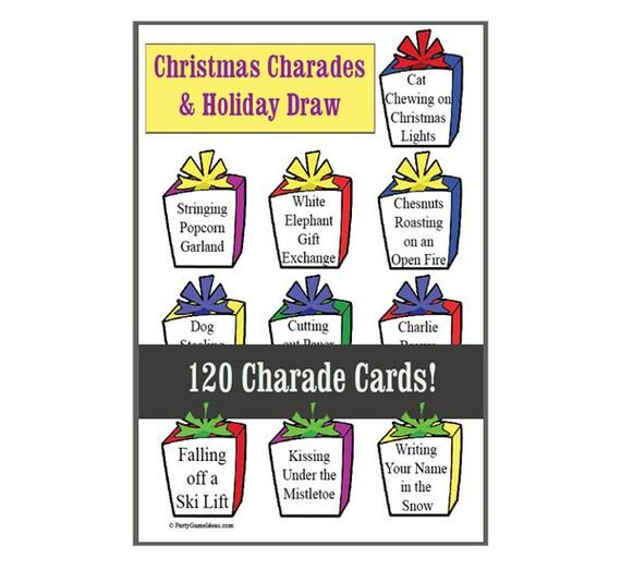 Christmas Charades.Christmas Charades Holiday Draw For Teens And Adults