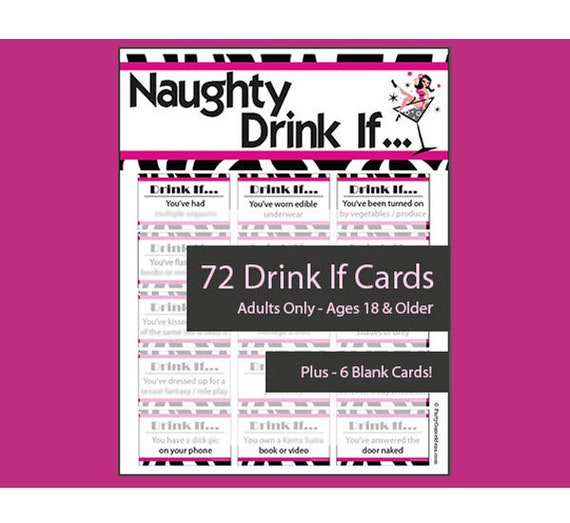 photo regarding Free Printable Left Right Christmas Game known as Naughty Consume If Video game - Printable Soiled Consume If, Gals Evening, Wild Bachelorette Bar Match