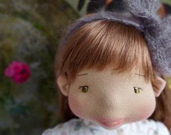"Waldorf doll - 52 cm ""Louisa"" (Lou) Waldorf inspired doll, Steiner doll, natural doll, felt sculpture, bio"