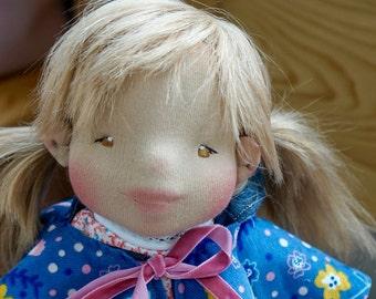 "Waldorf doll - 42 cm ""Emma Naseweis (Emmi) Waldorf inspired doll, Steiner doll, natural doll, felt sculpture, bio"