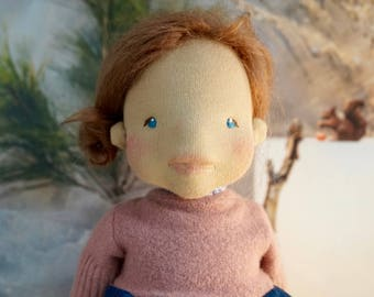 "Waldorf doll - 40 cm ""Ylvi"" - Waldorf doll, Waldorf inspired doll, Steiner doll, natural doll, felt sculpture, organic"