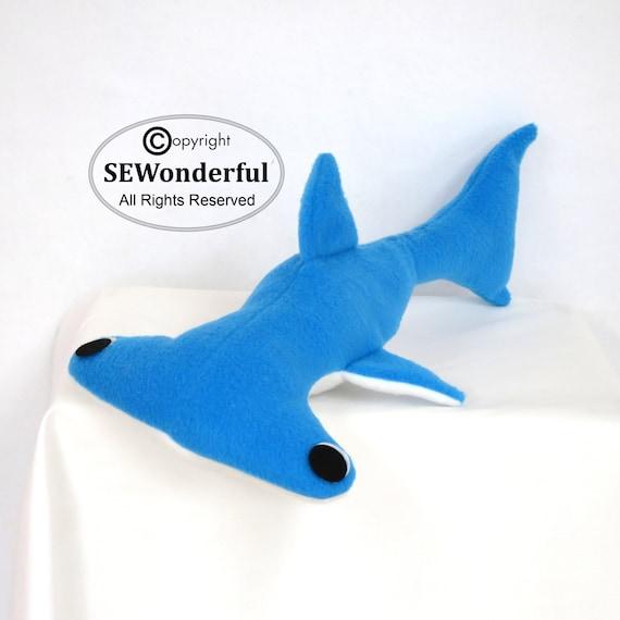 shark plush pattern