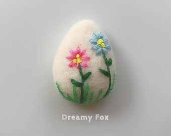 Needle felted Easter brooch