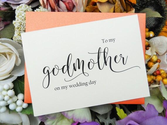 Godmother Wedding Gift: TO MY GODMOTHER On My Wedding Day Card To My Godmother