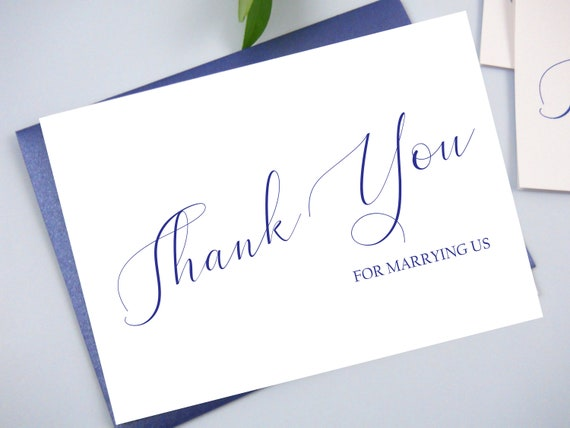 Wedding Officiant Thank You Card Officiant Thank You Card Wedding Officiant Gift Thank You For Marrying Us Wedding Vendor Gifts